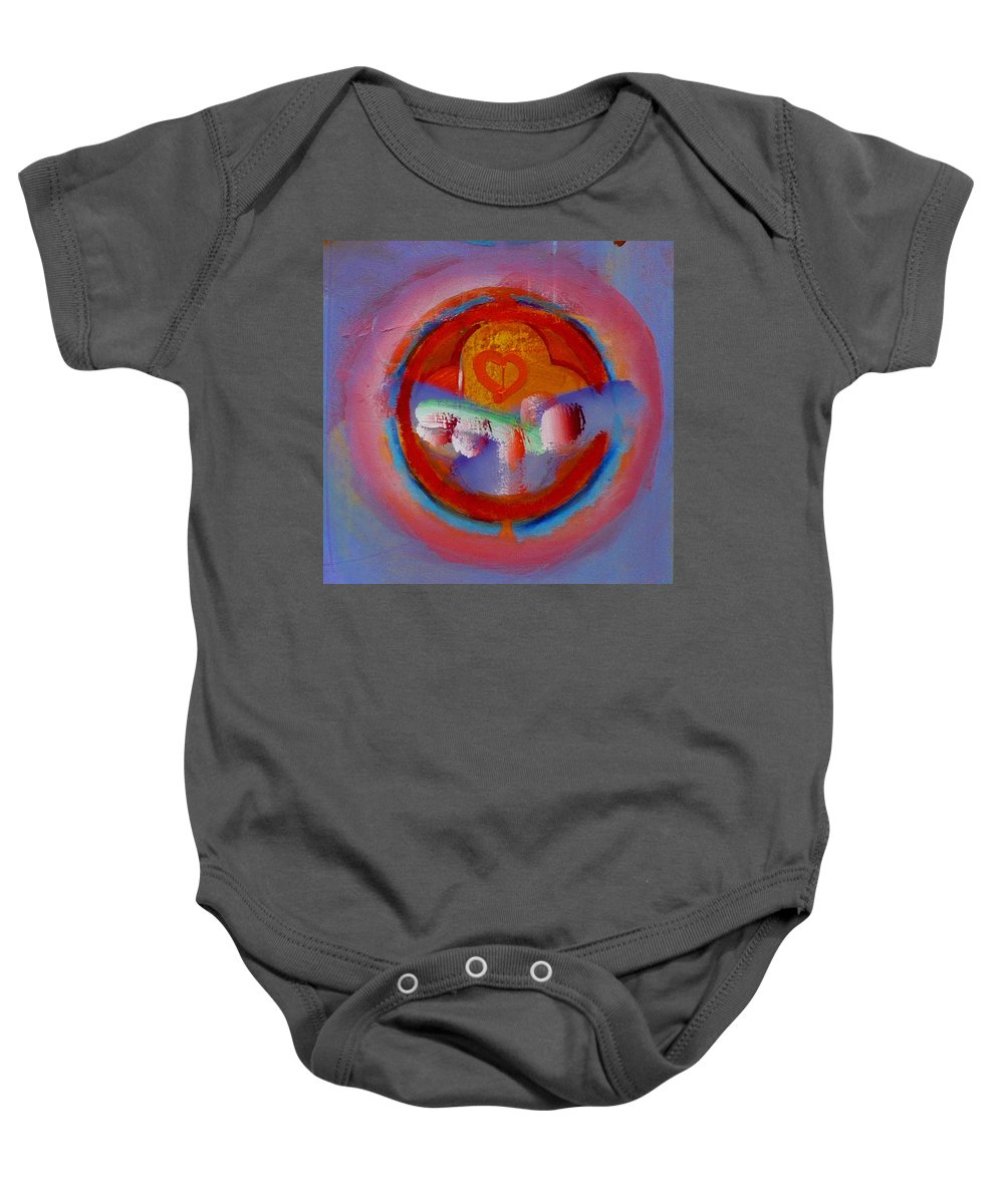 Logo Baby Onesie featuring the painting Towers In The Mist by Charles Stuart