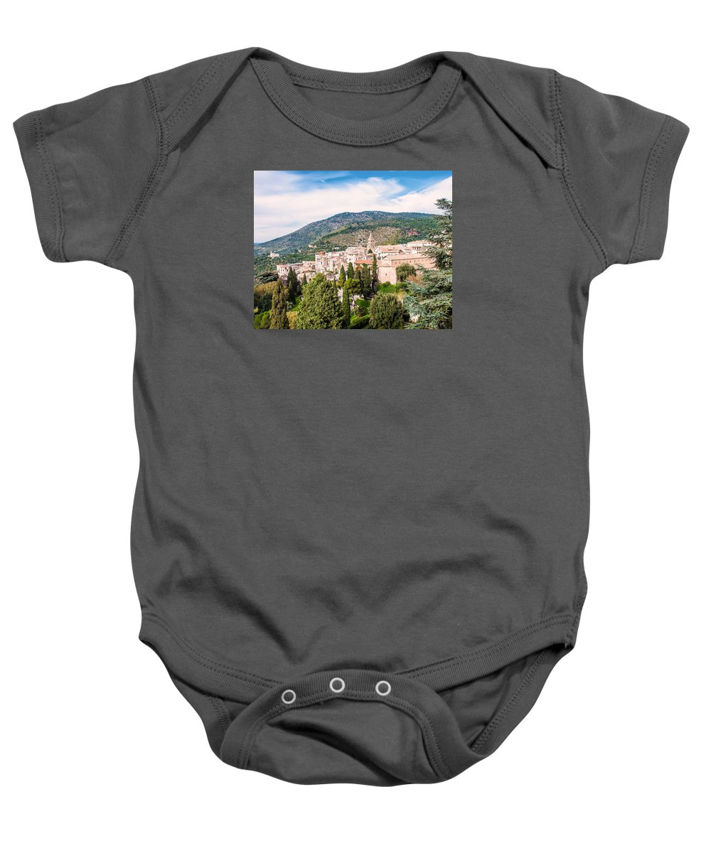 Italy Baby Onesie featuring the photograph Town Of Tivoli by Karen Regan