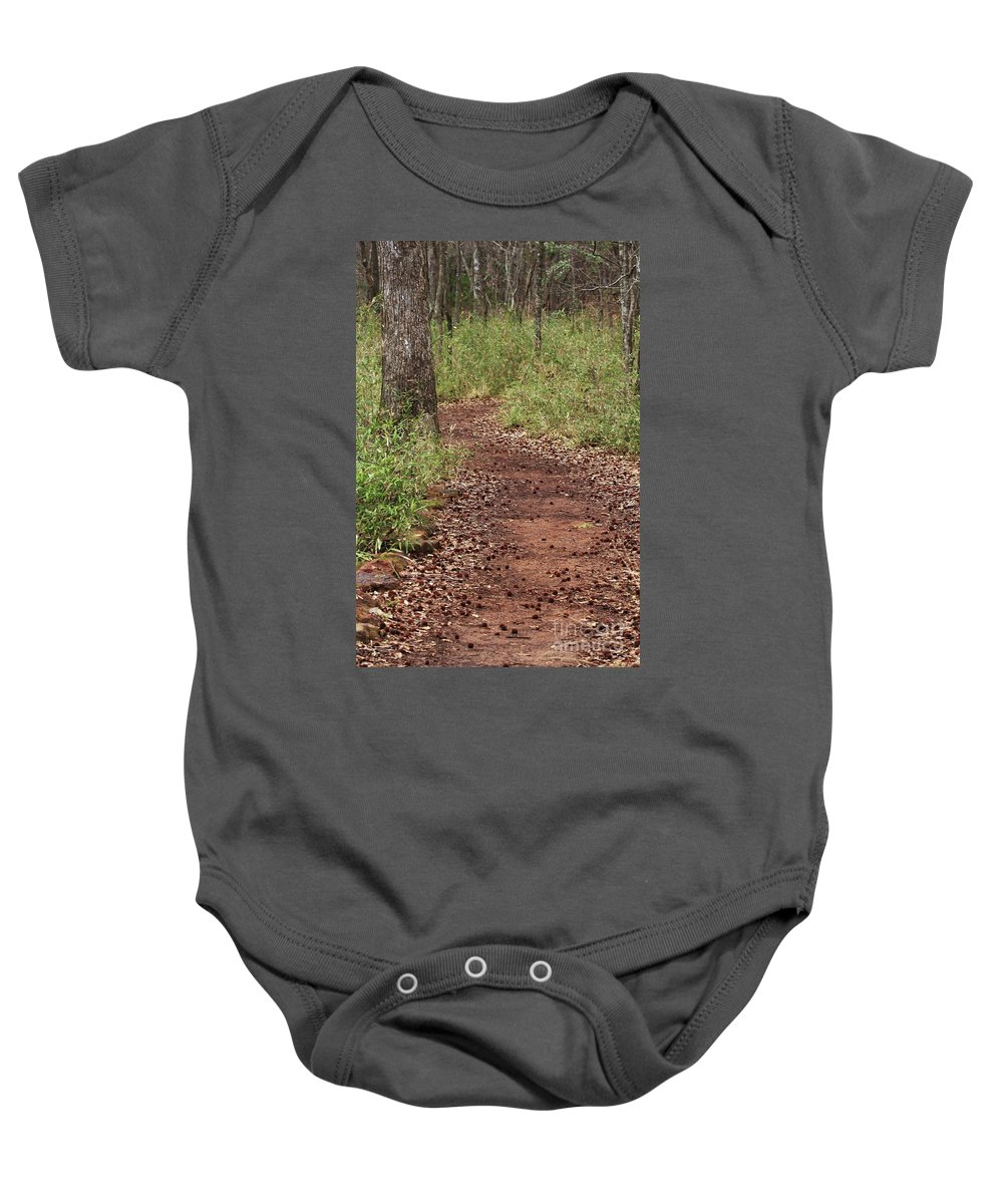 Walking Trail Photographs Baby Onesie featuring the photograph Trail To Beauty by Kim Henderson