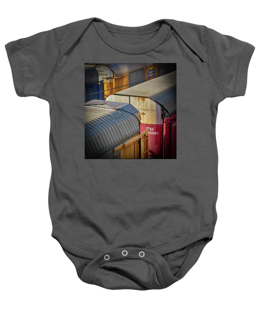 Trains Baby Onesie featuring the photograph Trains - Nashville by Samuel M Purvis III
