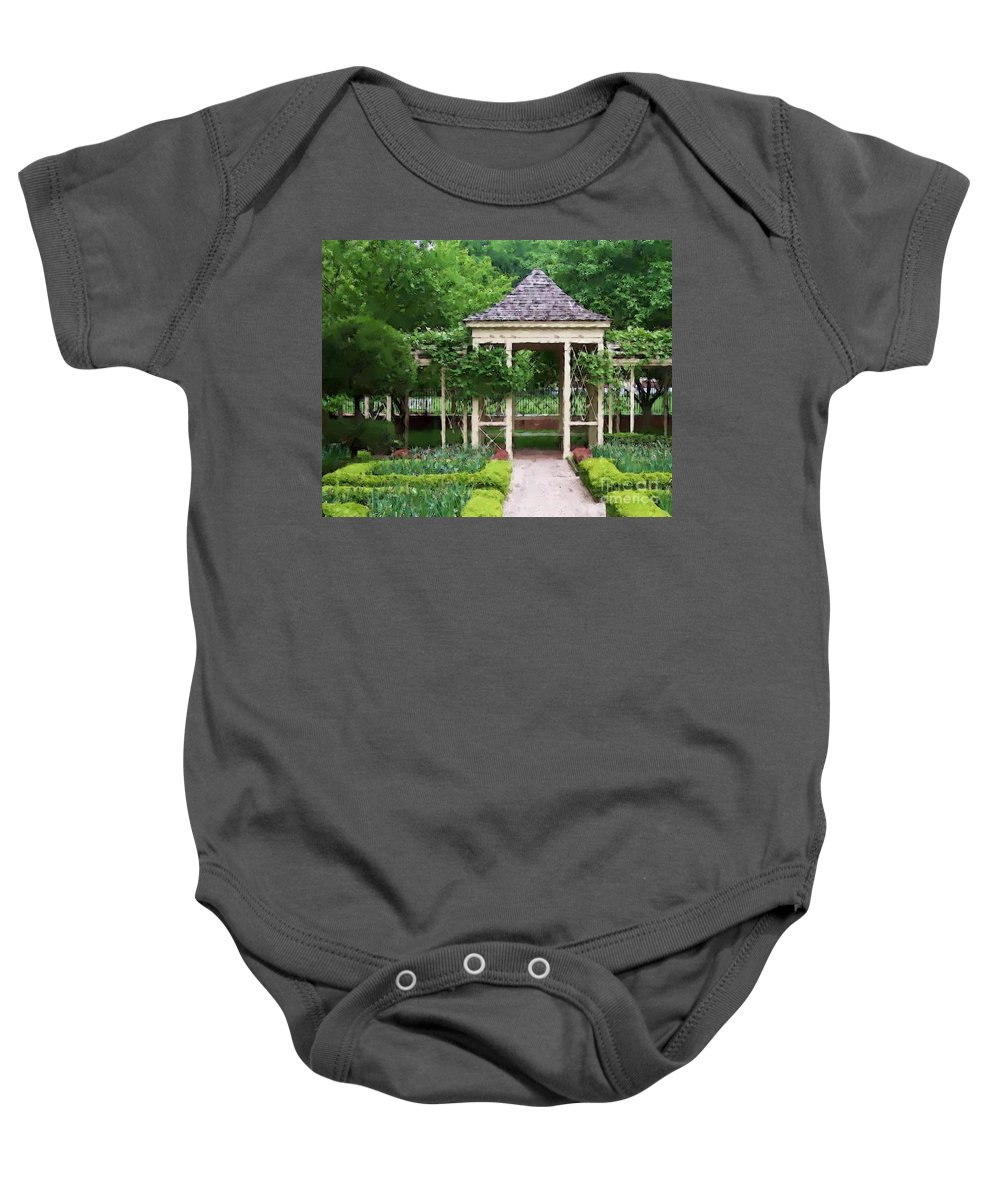 Garden Baby Onesie featuring the photograph Tranquil by Debbi Granruth