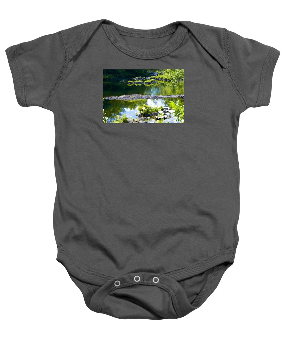 Pond Baby Onesie featuring the photograph Tranquil Pond by Robert Skuja