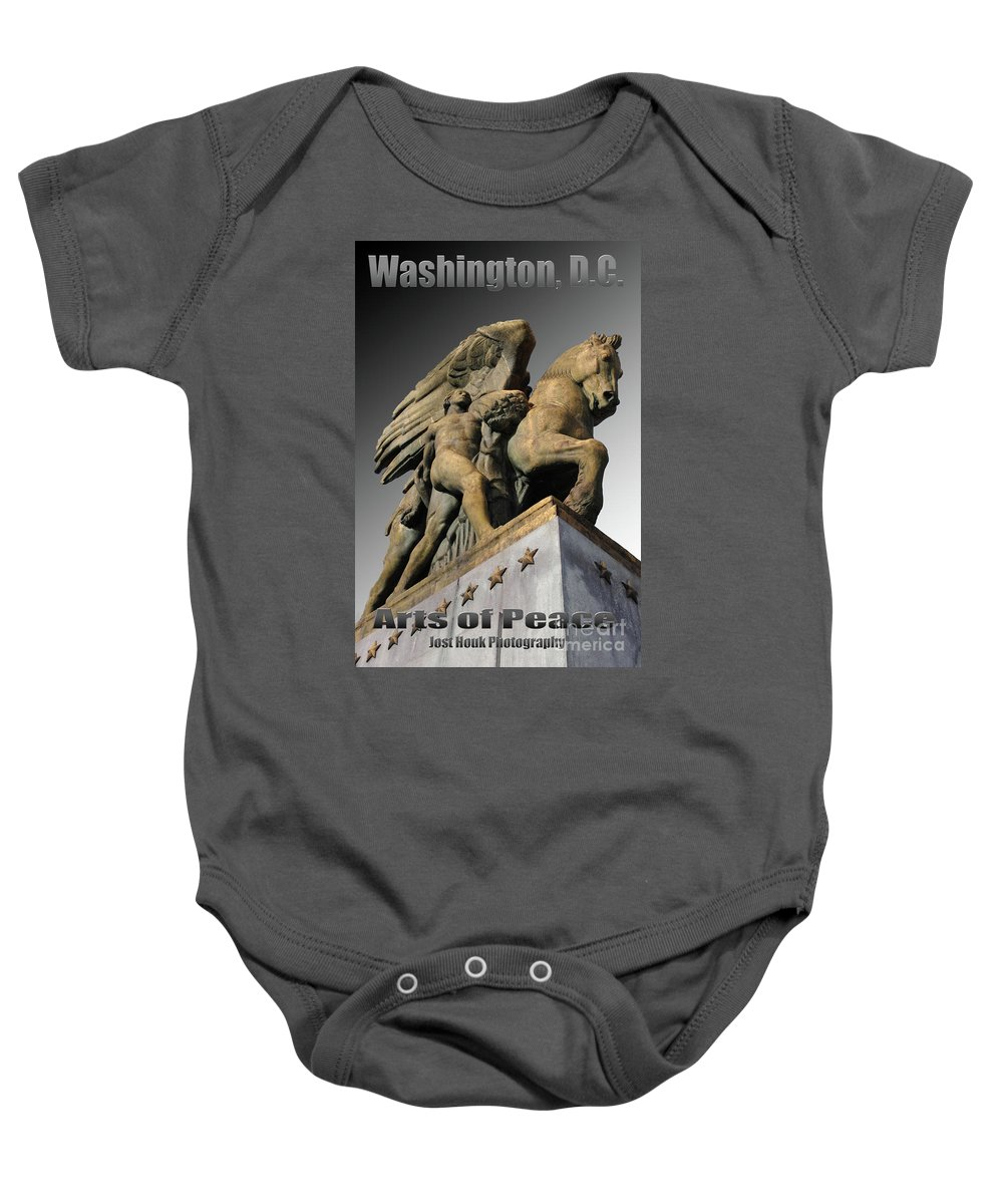 Washington Baby Onesie featuring the photograph Travel-arts Of Peace by Jost Houk