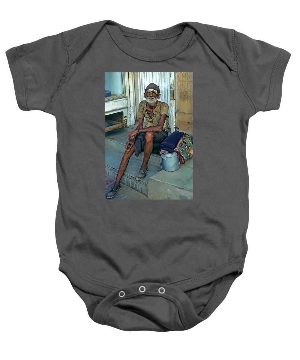 India Baby Onesie featuring the photograph Travelin' Man by Steve Harrington