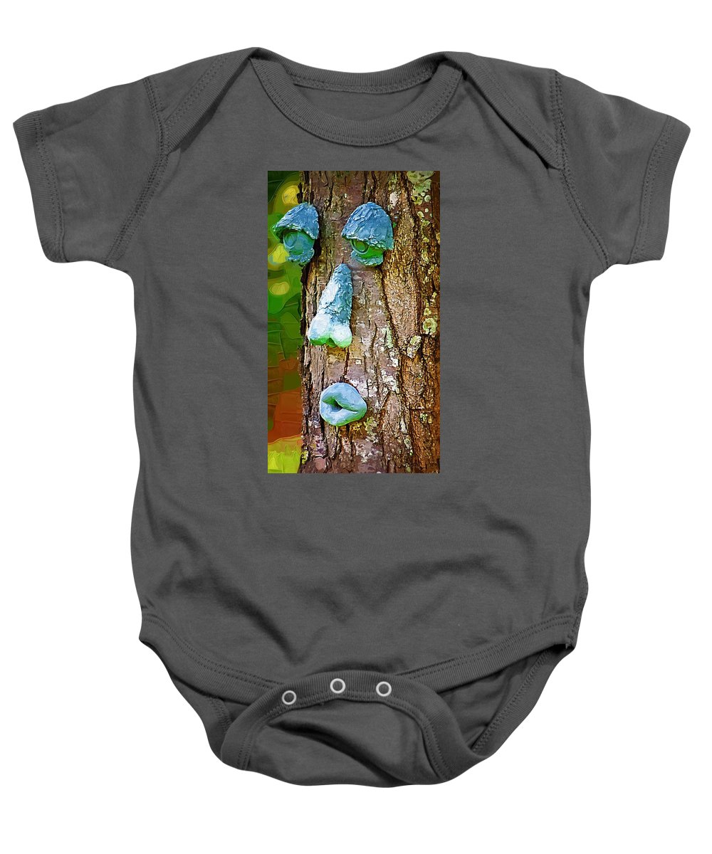 Tree Baby Onesie featuring the photograph Tree Being by Donna Bentley