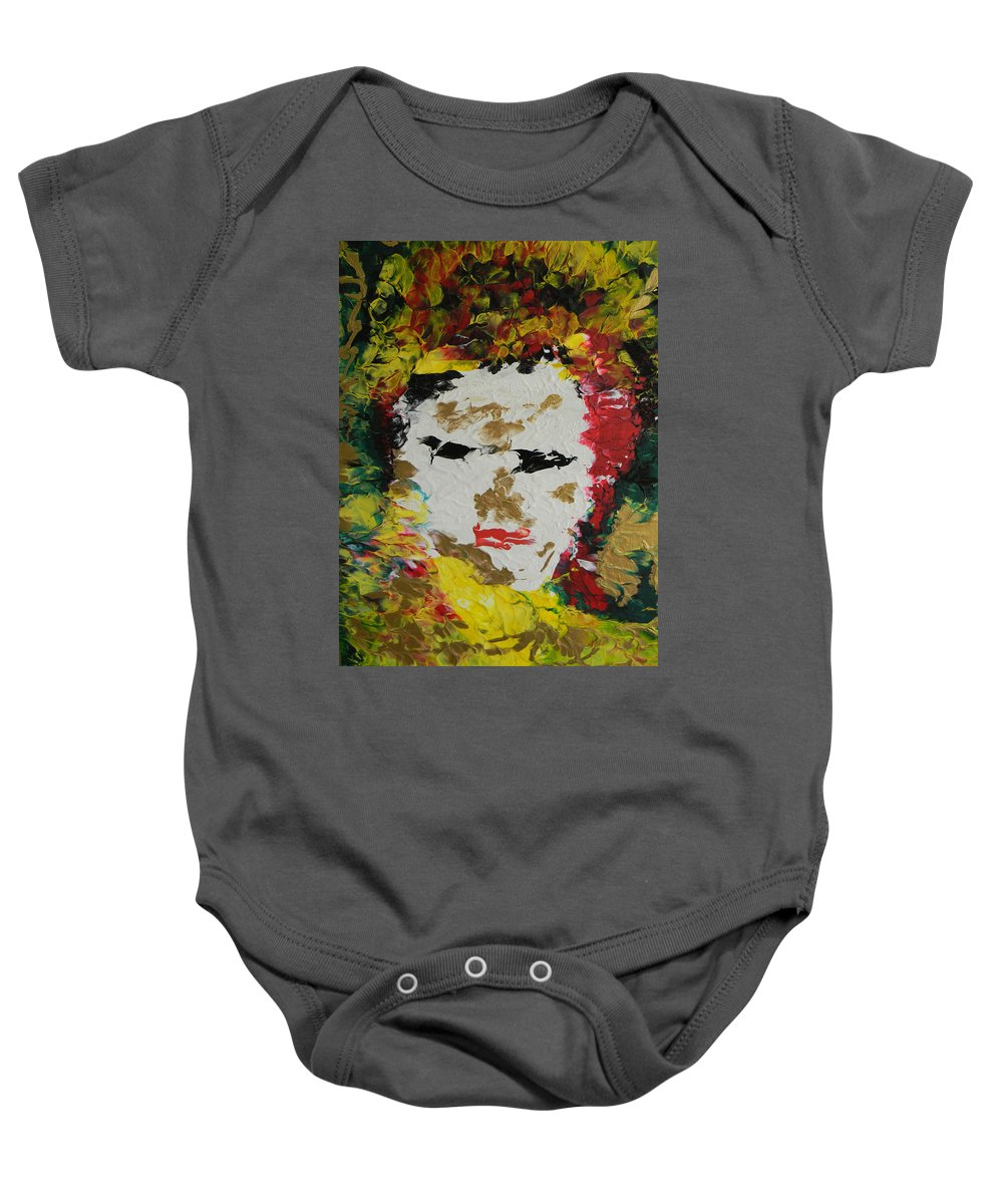 Trinity Baby Onesie featuring the painting Trinity Panel Two by Marwan George Khoury