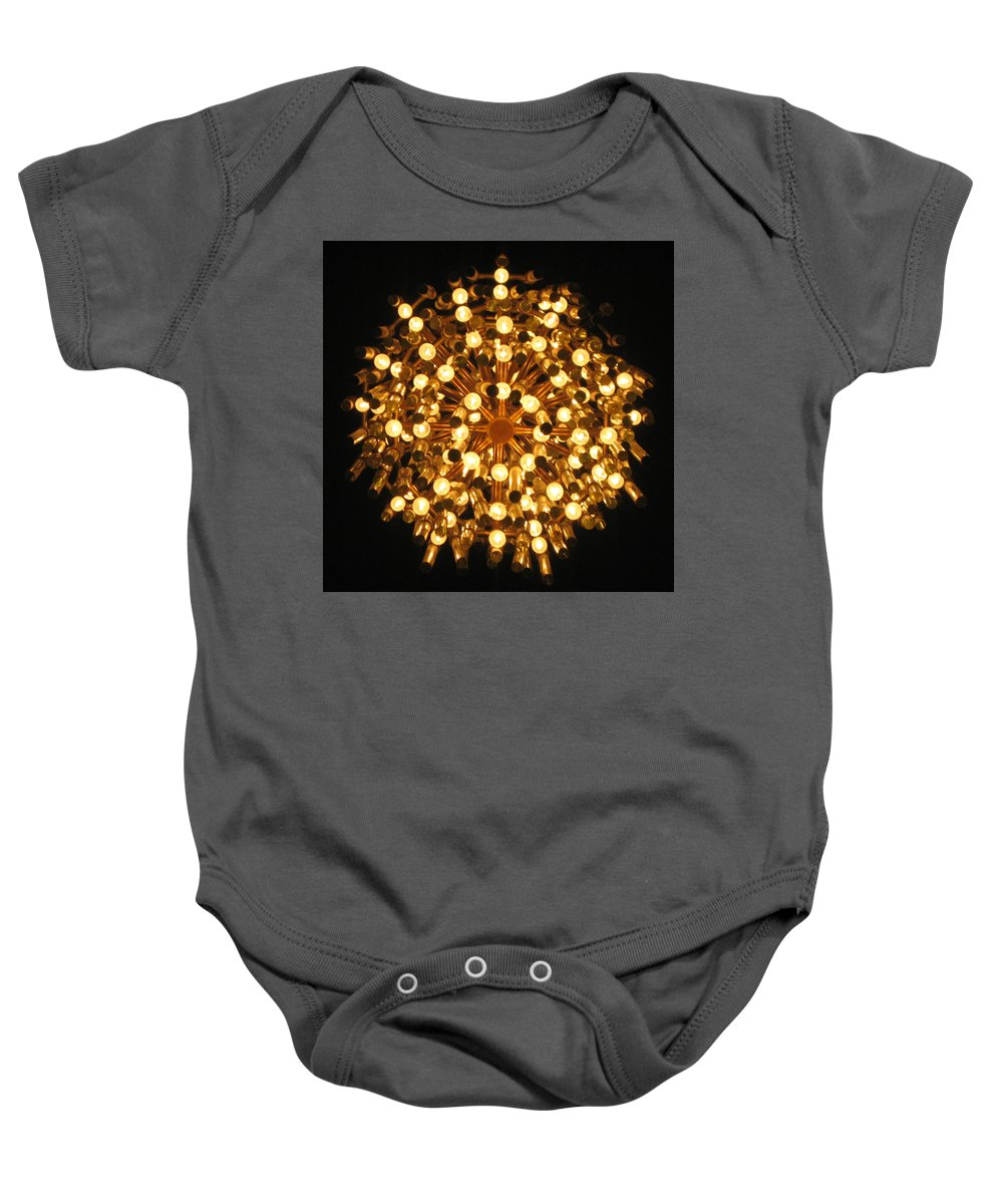 Chandelier Baby Onesie featuring the photograph Tromso Norway by Annette Hadley
