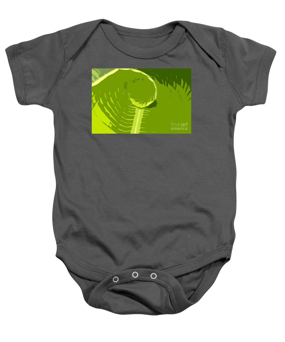 Green Baby Onesie featuring the digital art Tropical Green by David Lee Thompson