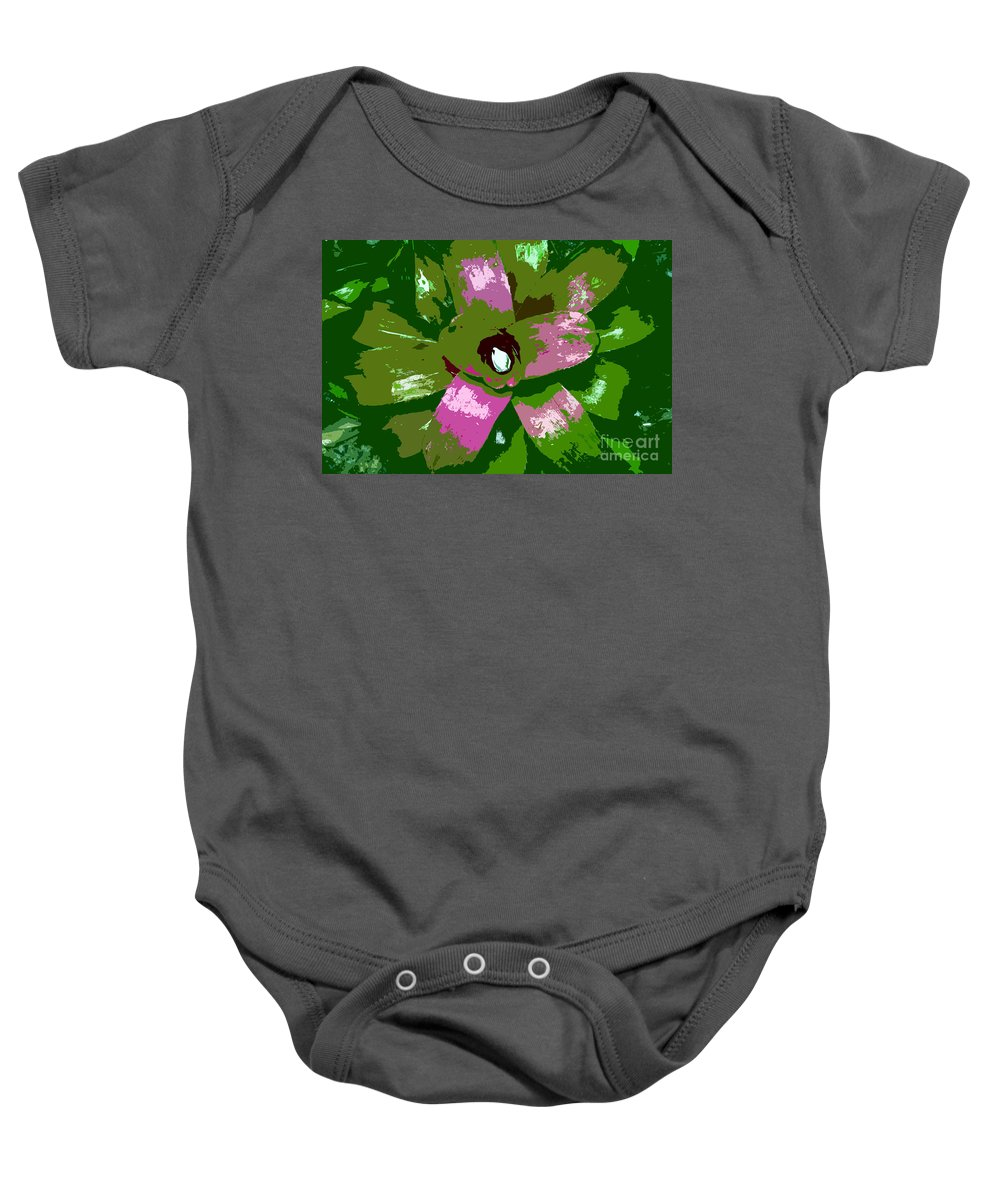 Tropical Baby Onesie featuring the photograph Tropical Plant Work Number 5 by David Lee Thompson
