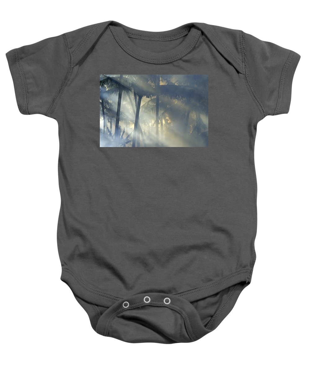 Tropical Baby Onesie featuring the photograph Tropical Rays by Michele Burgess