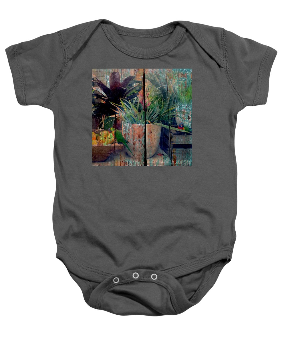 Fruit Baby Onesie featuring the photograph Tropical Still Life by Anthony Robinson