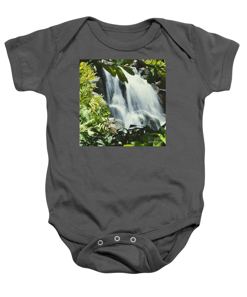 Active Baby Onesie featuring the photograph Tropical Waterfall by David Cornwell/First Light Pictures, Inc - Printscapes