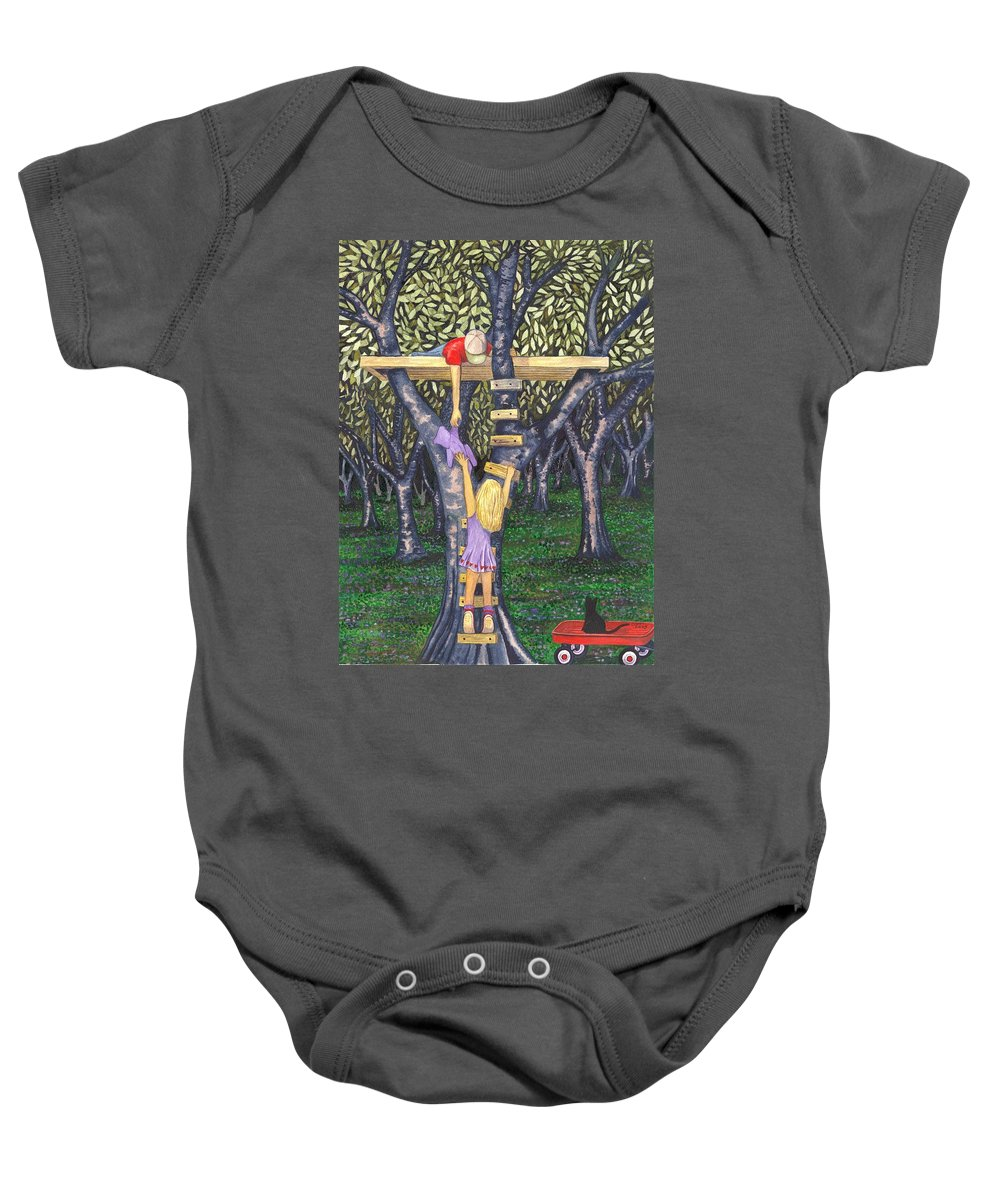 Children Baby Onesie featuring the painting Trust by Catherine G McElroy