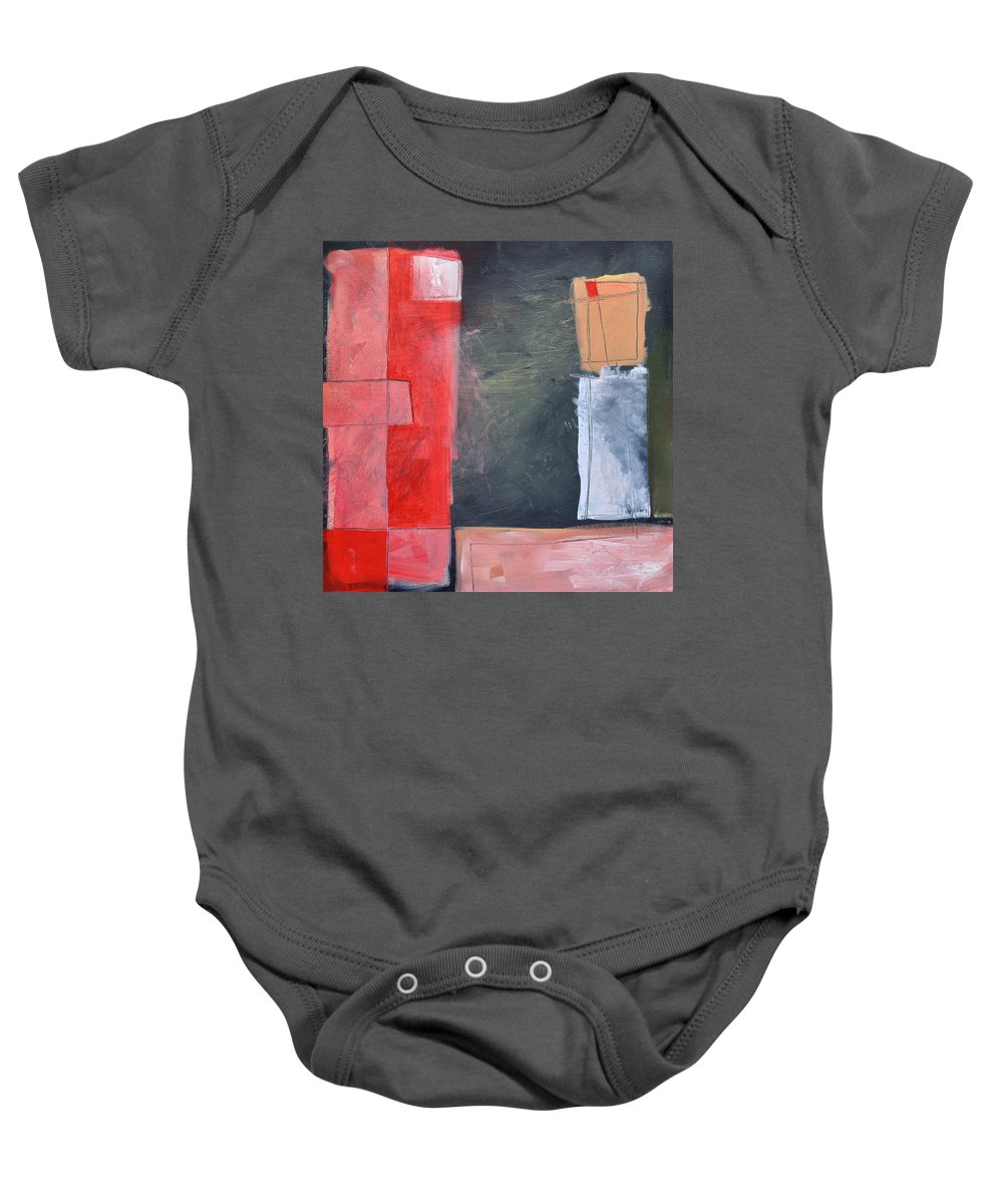 Pink Baby Onesie featuring the painting Trying To Get My Head Around Pink by Tim Nyberg