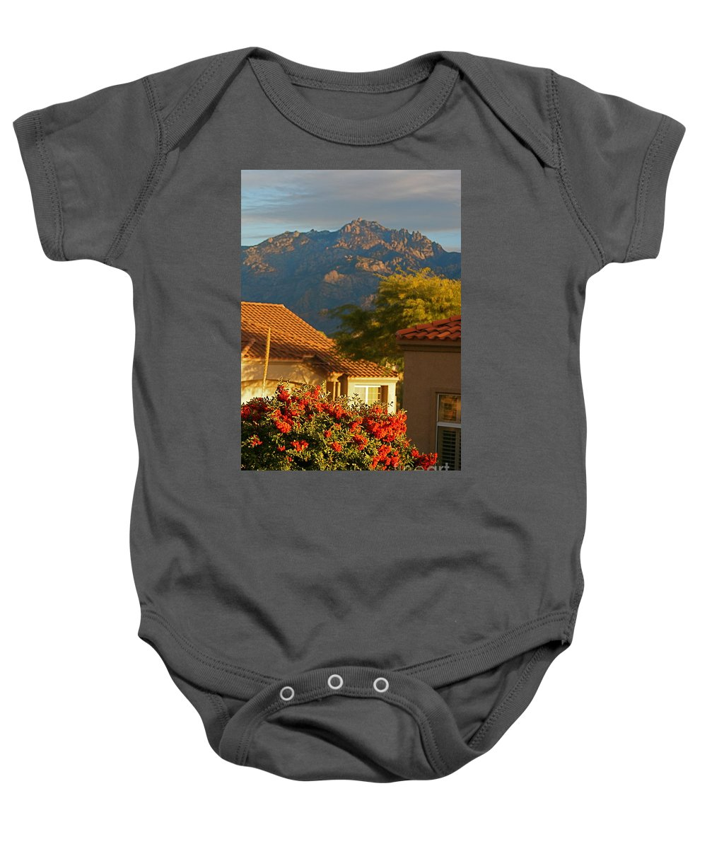 Mountains Baby Onesie featuring the photograph Tucson Beauty by Nadine Rippelmeyer