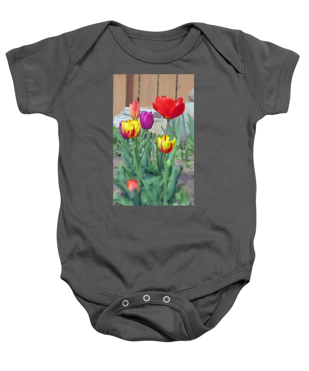 Tulips Baby Onesie featuring the photograph Tulip Mixture by Kay Novy