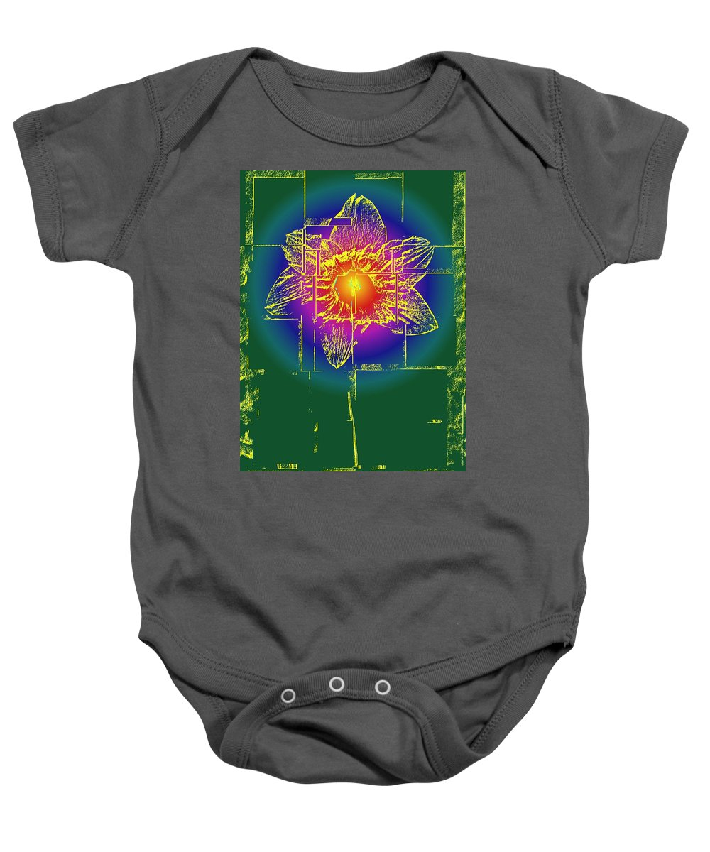 Tulip Baby Onesie featuring the digital art Tulip by Tim Allen
