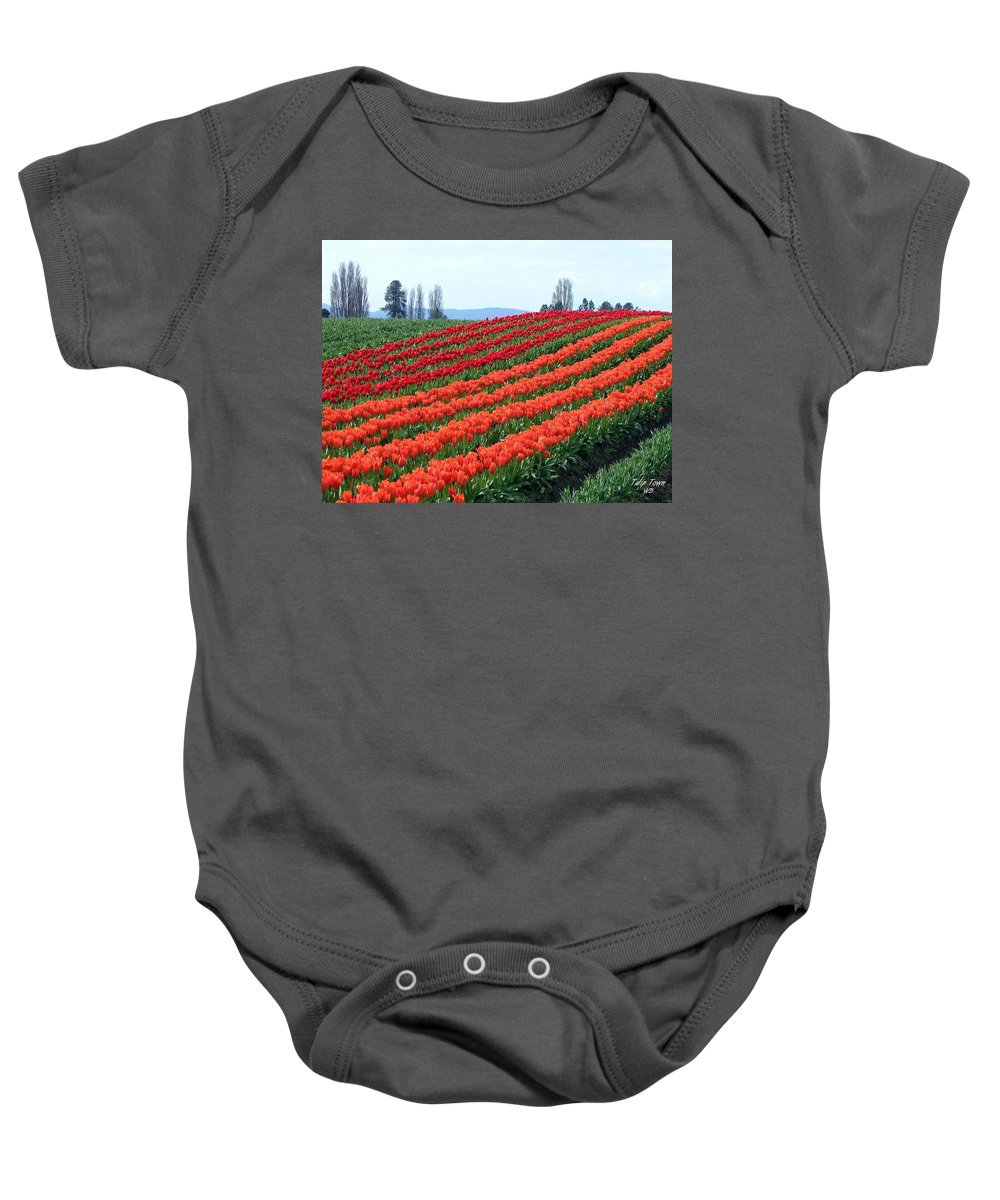 Agriculture Baby Onesie featuring the photograph Tulip Town 18 by Will Borden