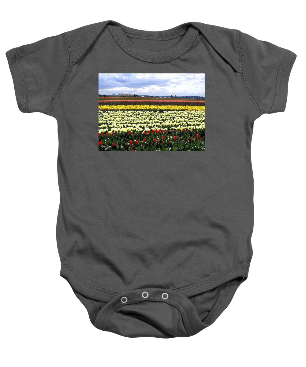 Agriculture Baby Onesie featuring the photograph Tulip Town 4 by Will Borden