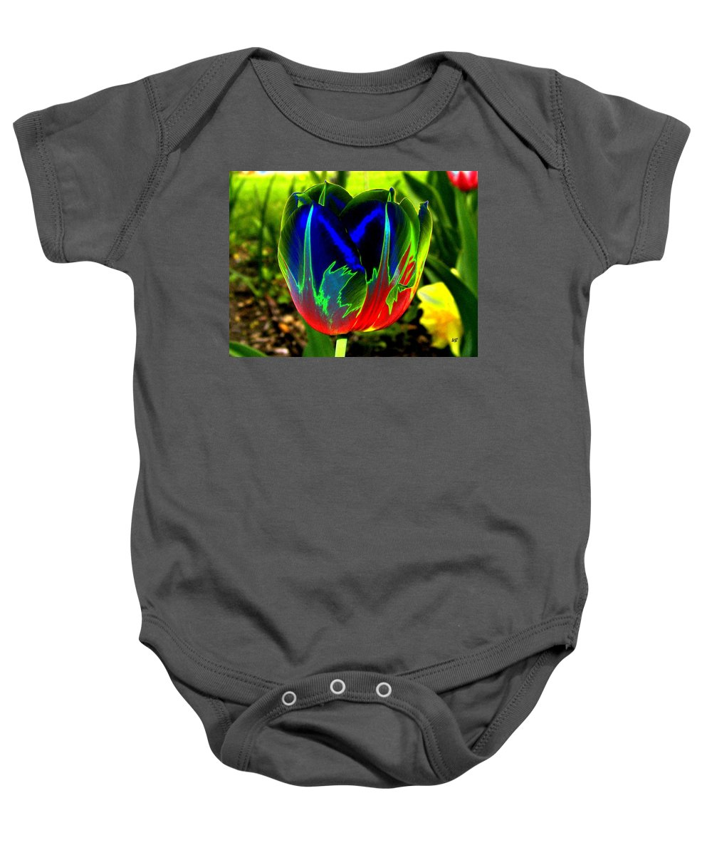 Resplendent Baby Onesie featuring the digital art Tulipshow by Will Borden