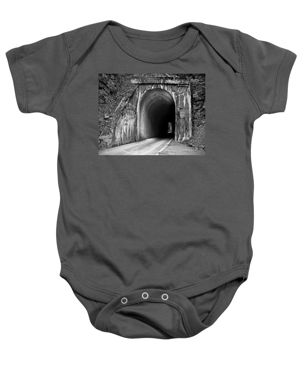 Idaho Scenics Baby Onesie featuring the photograph Tunnel by Leland D Howard