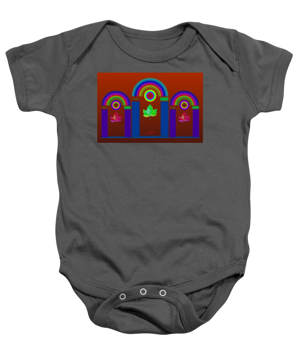Classical Baby Onesie featuring the painting Tuscan Heat by Charles Stuart