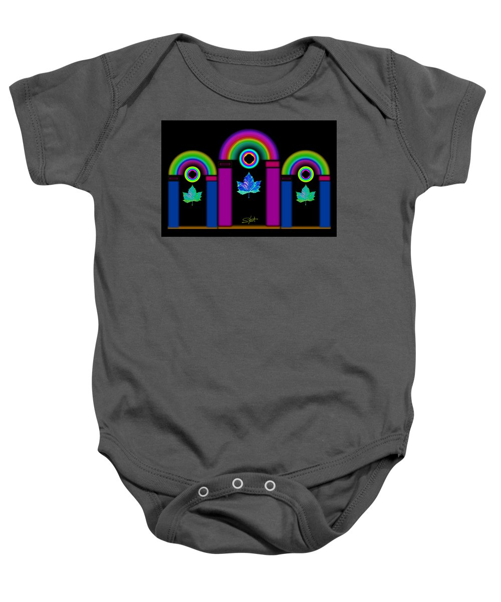 Classical Baby Onesie featuring the painting Tuscan Neon by Charles Stuart