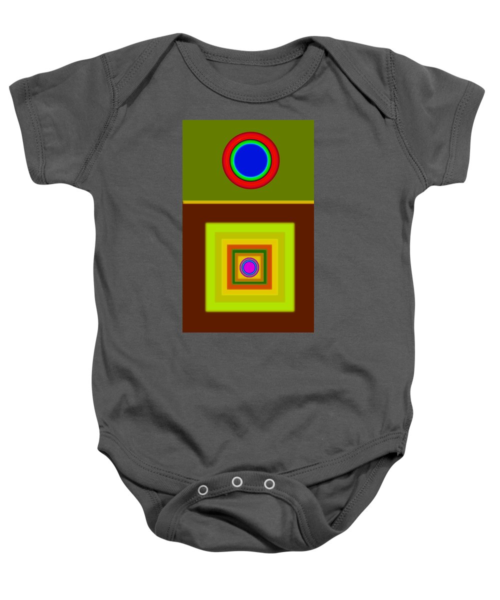 Classical Baby Onesie featuring the digital art Tuscan Sun by Charles Stuart