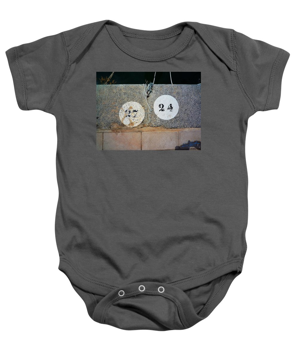 Number Baby Onesie featuring the photograph Twenty Four by Charles Stuart