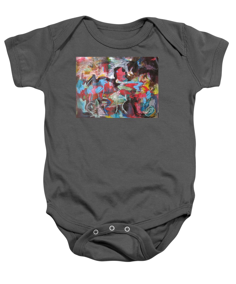 Original Baby Onesie featuring the painting Twilight In Ocean by Seon-Jeong Kim