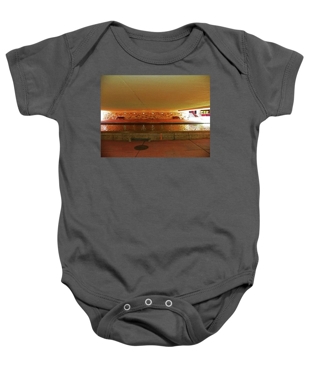 Abstract Baby Onesie featuring the photograph Under The Bridge by Lenore Senior