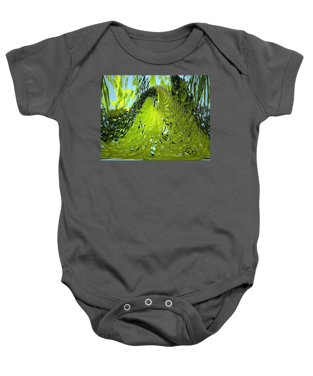 Seaweed Baby Onesie featuring the photograph Under Water by Merja Waters