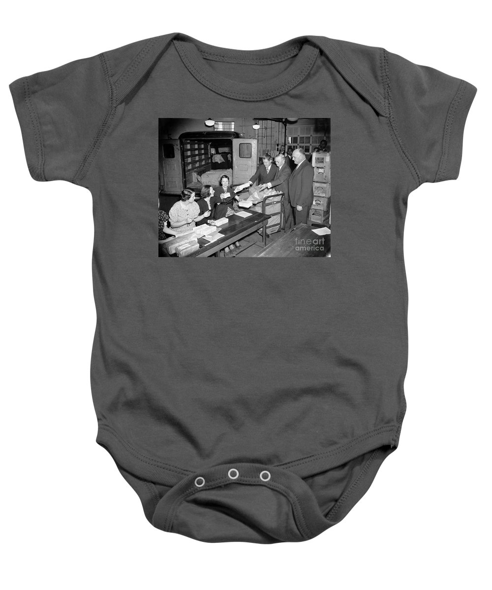 1937 Baby Onesie featuring the photograph Unemployment Census, 1937 by Granger