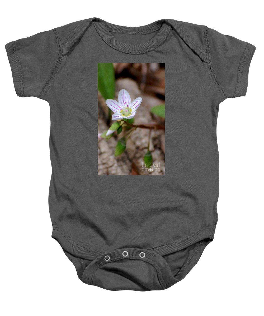 Floral Baby Onesie featuring the photograph Untitiled Floral by David Lane