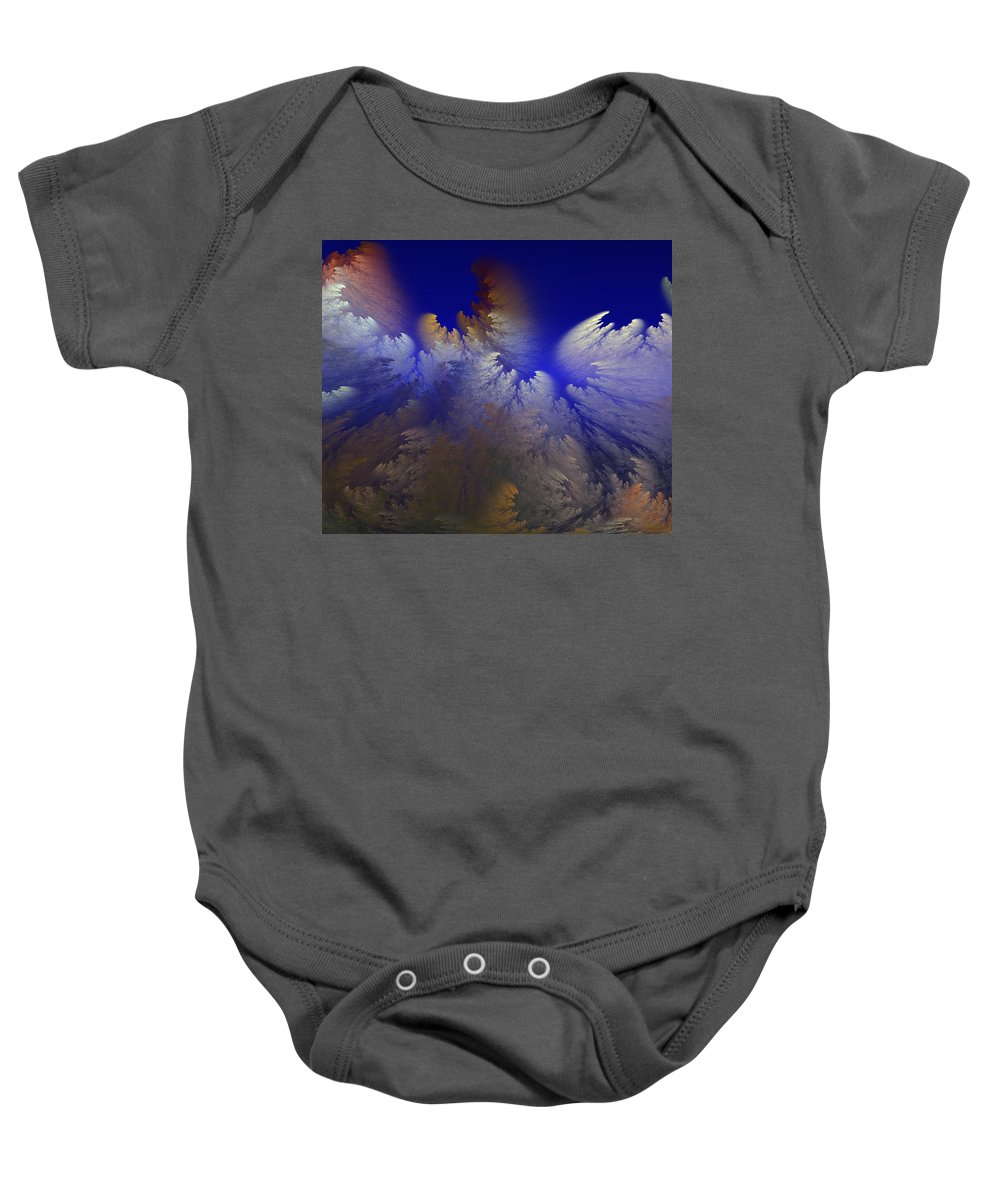 Abstract Digital Painting Baby Onesie featuring the digital art Untitled 11-1-09 by David Lane
