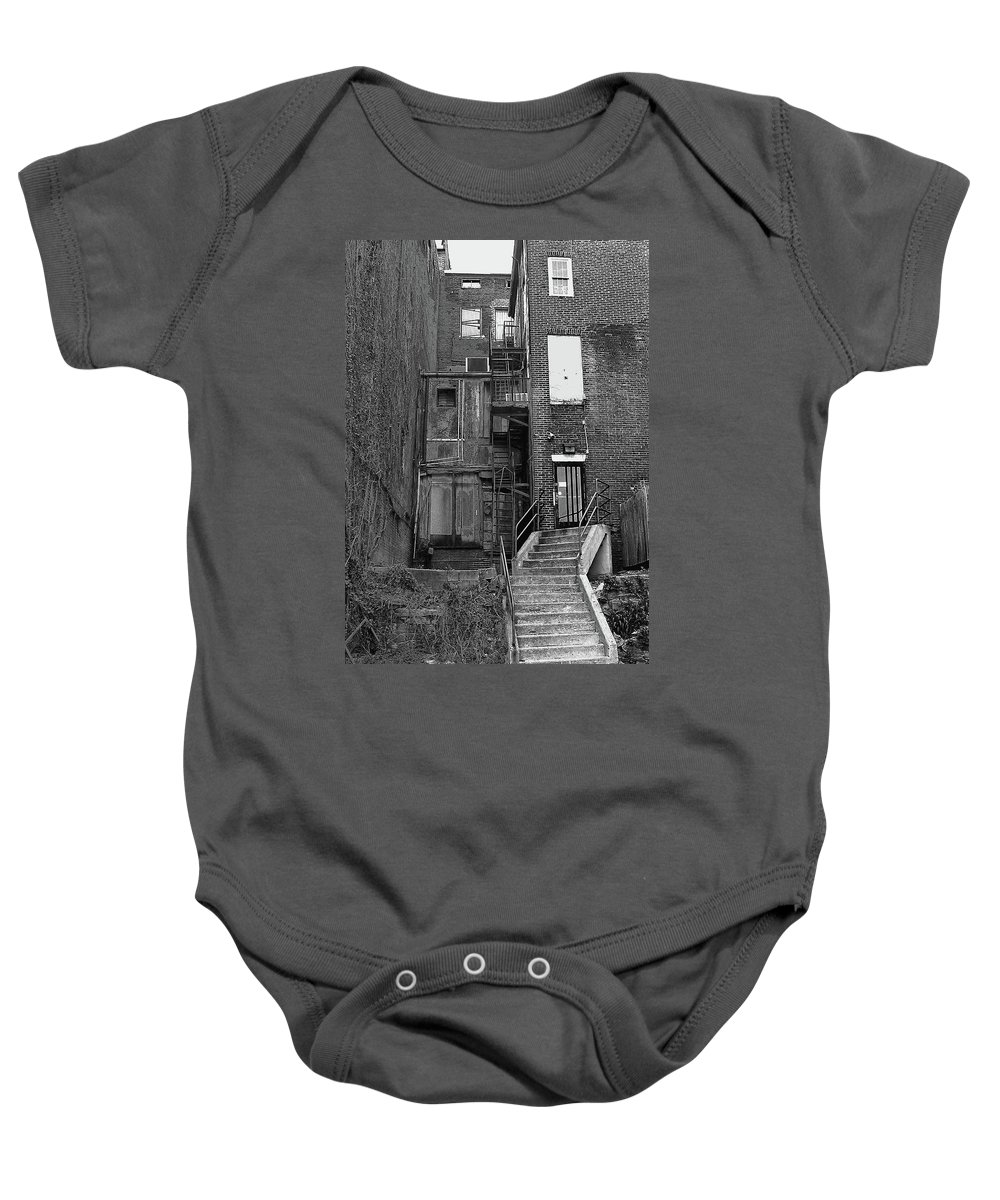 2d Baby Onesie featuring the photograph Urban Decay by Brian Wallace