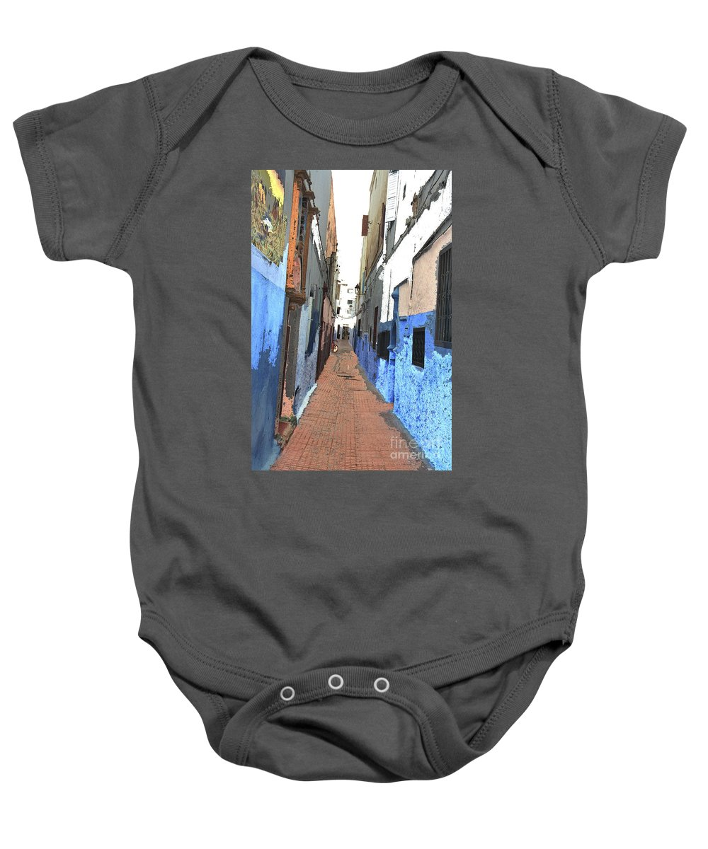 Urban Baby Onesie featuring the photograph Urban Scene by Hana Shalom