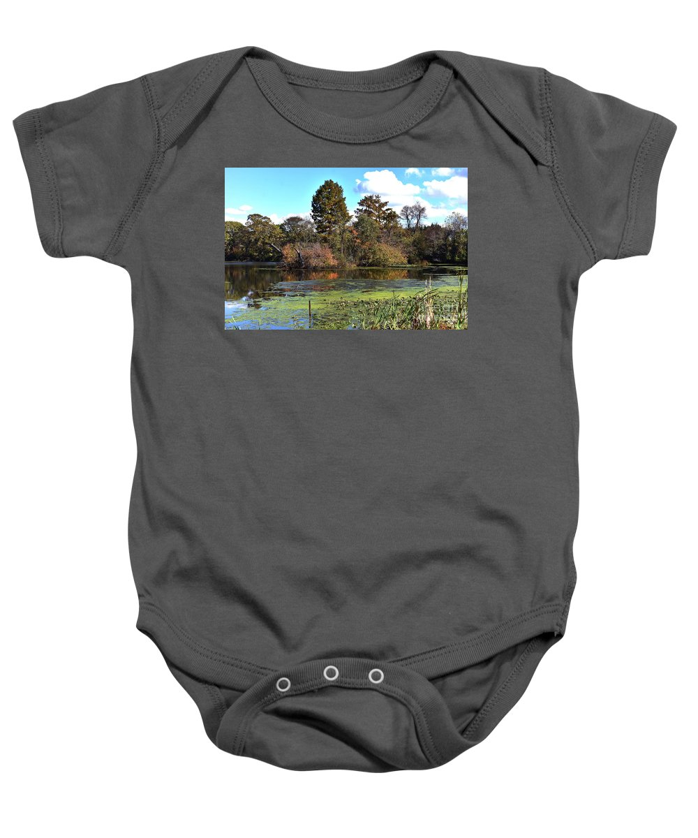 Animals Baby Onesie featuring the photograph Urieville Pond by Skip Willits