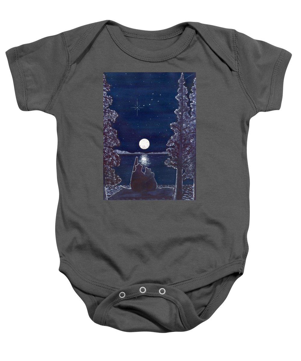 Bear Baby Onesie featuring the painting Ursa Minor by Catherine G McElroy