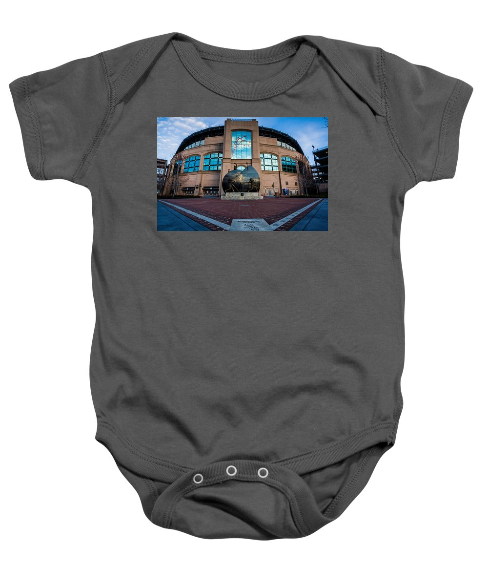 Baby Onesie featuring the photograph Us Cellular Field by Sue Conwell