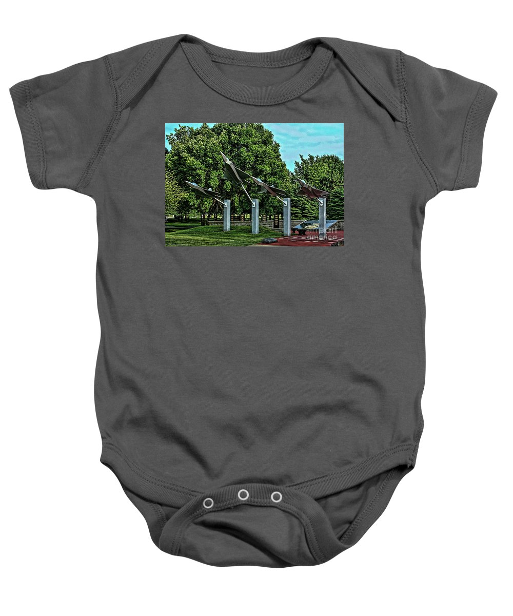 Usaf Baby Onesie featuring the photograph Usaf Museum Memorial Garden by Tommy Anderson