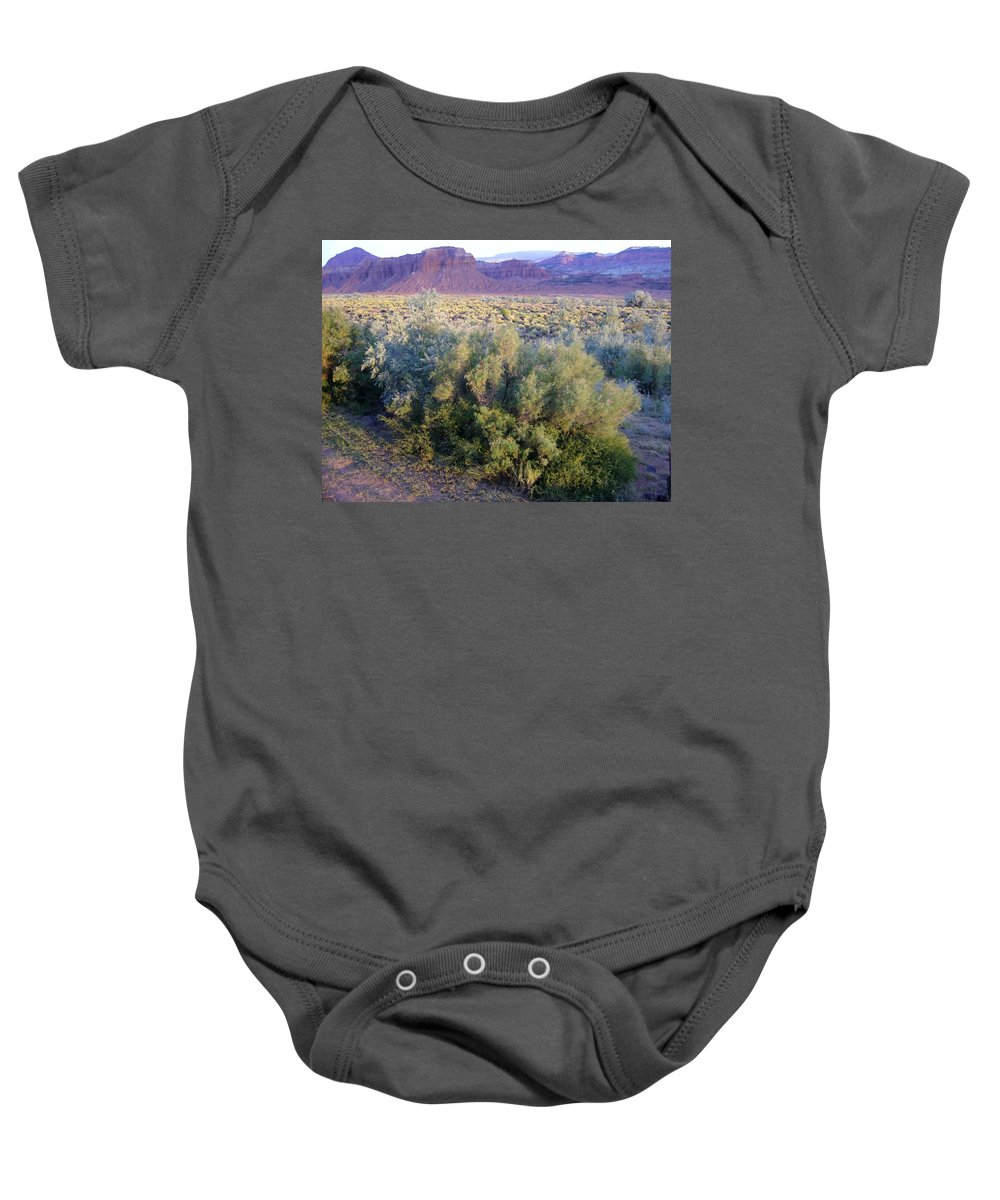 Utah Baby Onesie featuring the photograph Utah Sunset by Mary Rogers