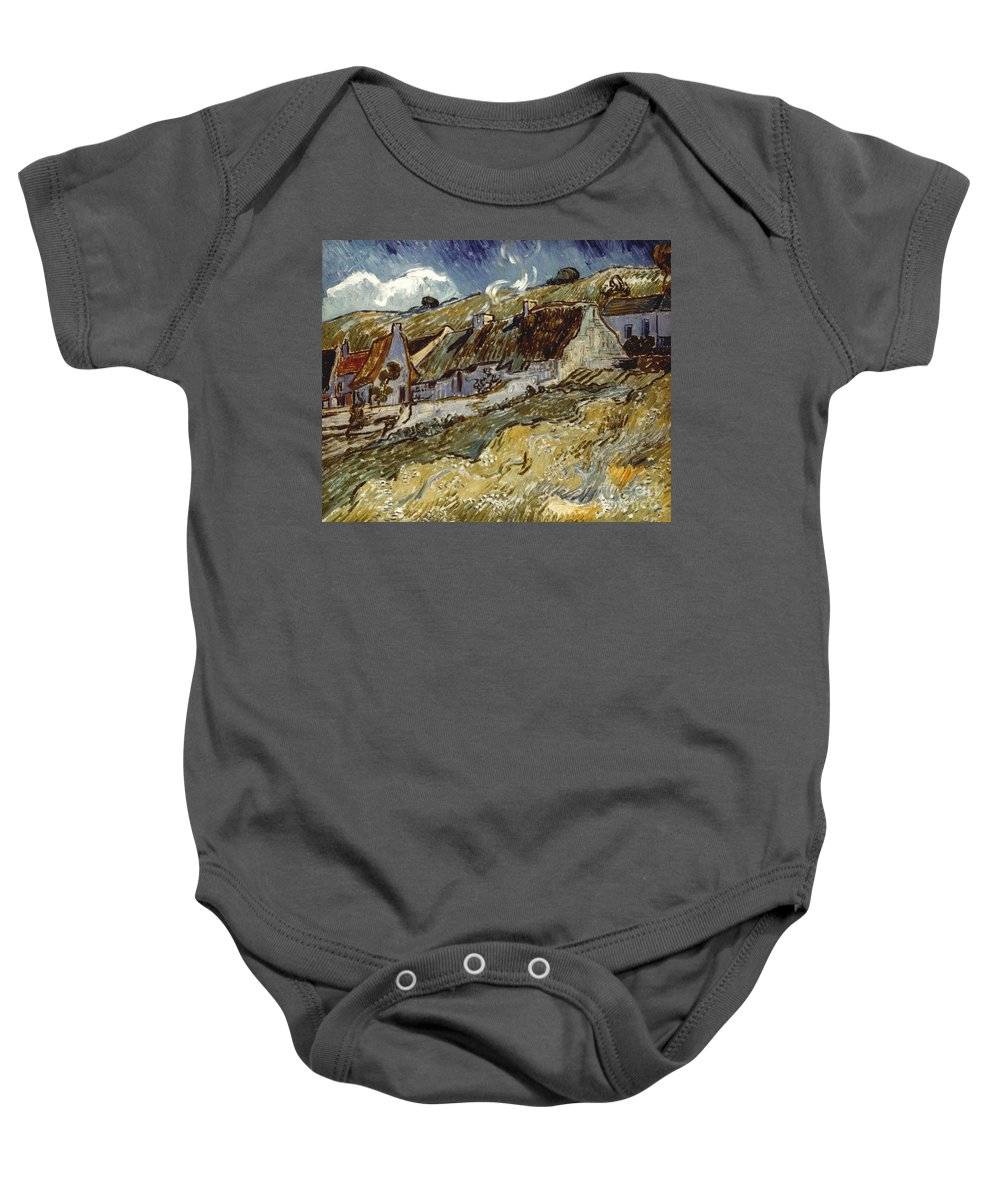 1890 Baby Onesie featuring the photograph Van Gogh: Cottages, 1890 by Granger