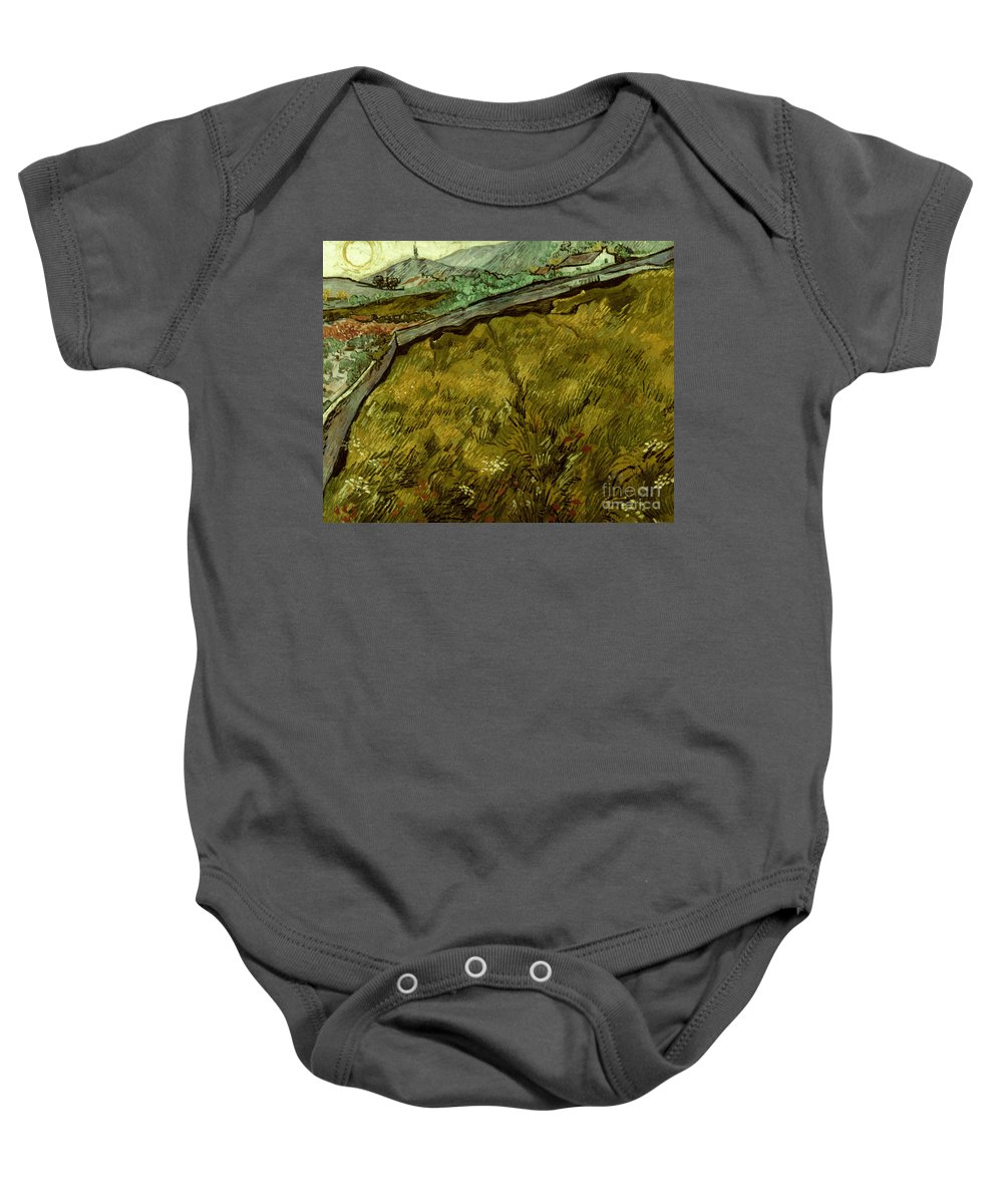 1890 Baby Onesie featuring the photograph Van Gogh: Field, 1890 by Granger