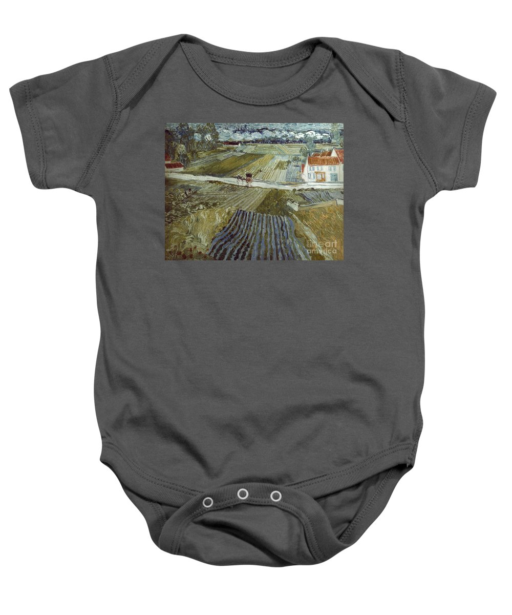 1888 Baby Onesie featuring the photograph Van Gogh: Landscape, C1888 by Granger