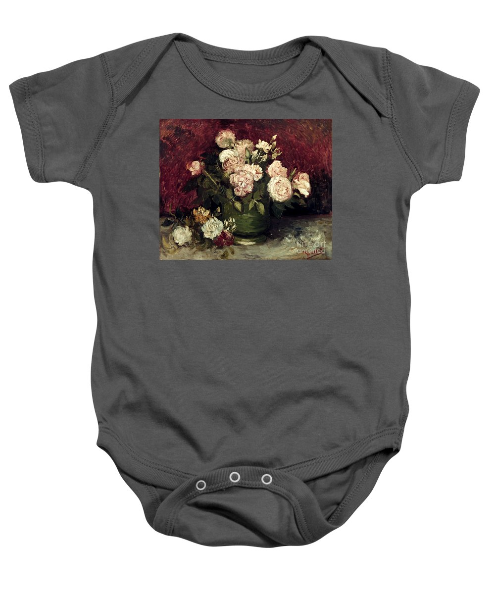 1886 Baby Onesie featuring the photograph Van Gogh: Roses, 1886 by Granger