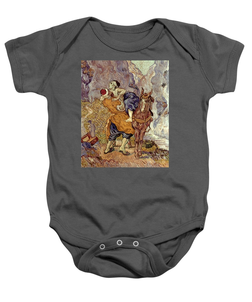 1890 Baby Onesie featuring the photograph Van Gogh: Samaritan, 1890 by Granger
