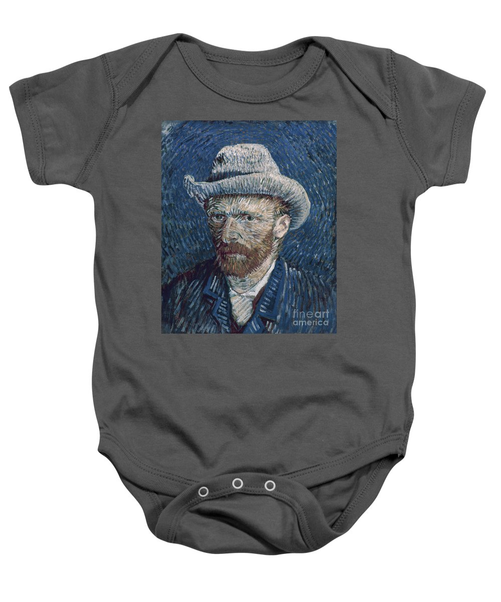 1887 Baby Onesie featuring the photograph Van Gogh: Self-portrait by Granger