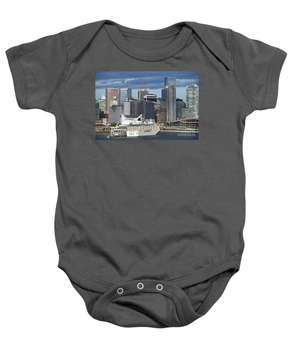 Business Baby Onesie featuring the photograph Vancouver Skyline by John Greim