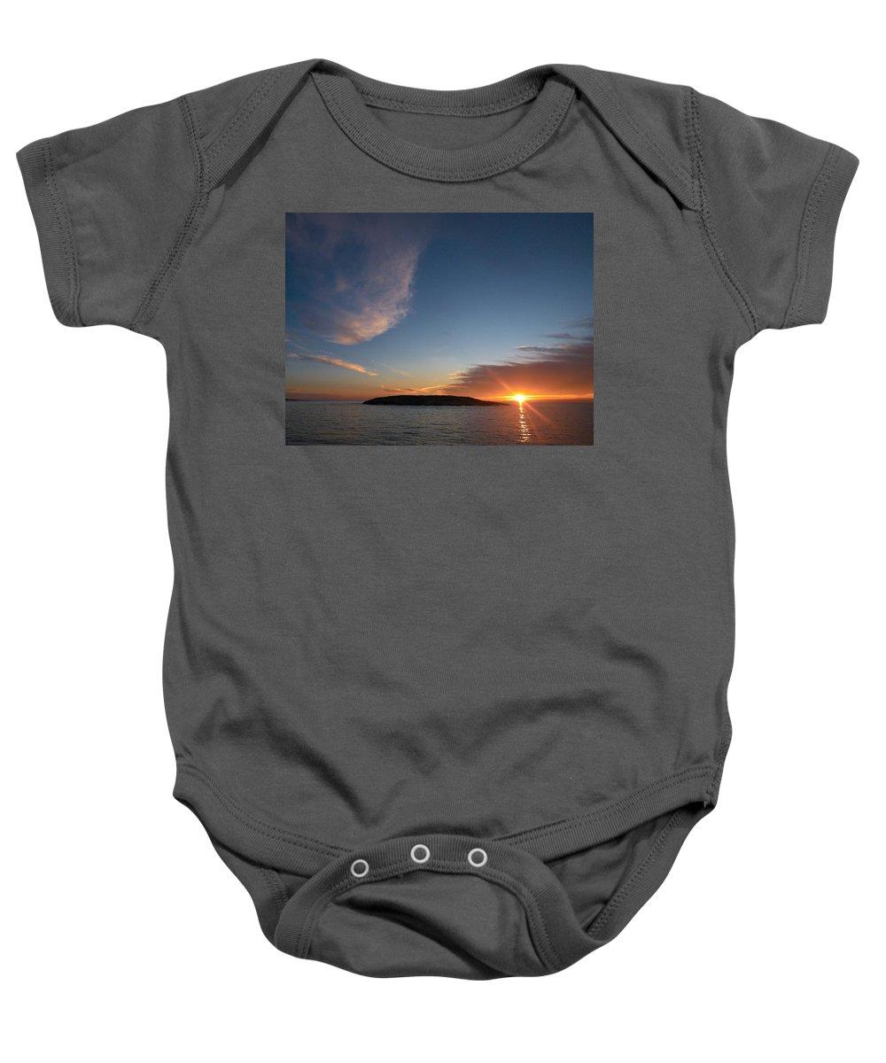 Lehtokukka Baby Onesie featuring the photograph Variations Of Sunsets At Gulf Of Bothnia 2 by Jouko Lehto